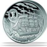 Exkluzivní plachetnice – 100 Oz, stříbro