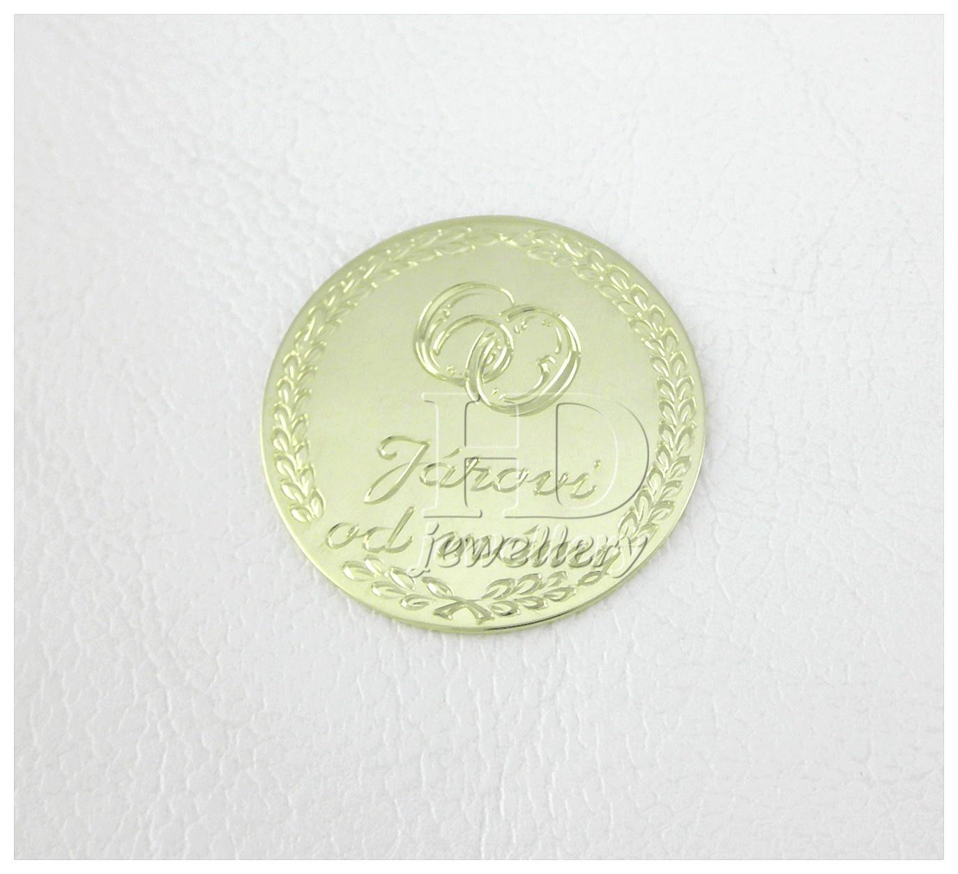 Dárková mince ze Zlatnictví HD Klenoty Daniel Hala, České Budějovice