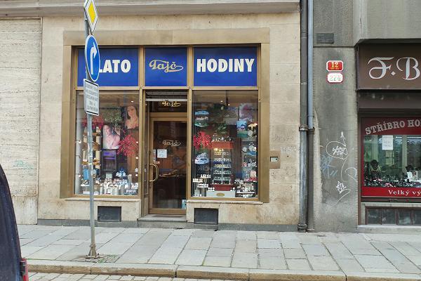 Prodejna Zlatnictví a hodinářství Tajč, Plzeň
