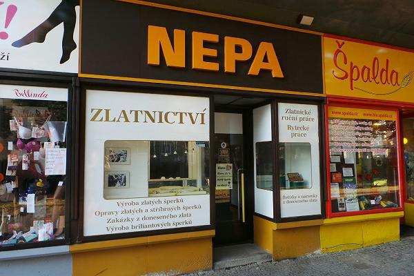 Prodejna Zlatnictví Nepa, Pardubice