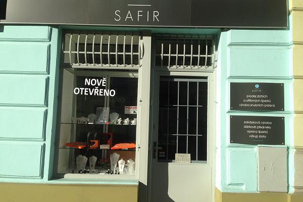 Prodejna Zlatnictví Safír - Zdeňka Kleinová, Praha