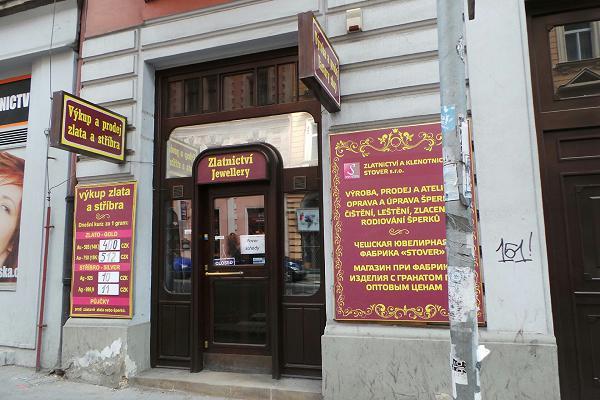 Prodejna Zlatnictví STOVER s.r.o., Praha