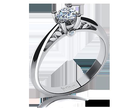 Snubní prsten ze Zlatnictví Luxur Gold, Praha
