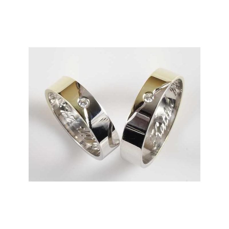 Snubní prsten ze Zlatnictví Milan Augustin, Praha