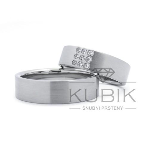Snubní prsten ze Zlatnictví Snubní prsteny Kubík, Plzeň