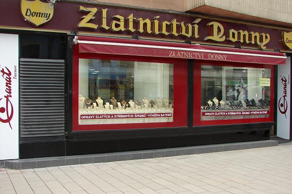 Prodejna Zlatnictví Donny, Pardubice