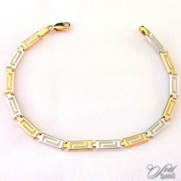 Zlatý náramek ze Zlatnictví Svět šperků, Most